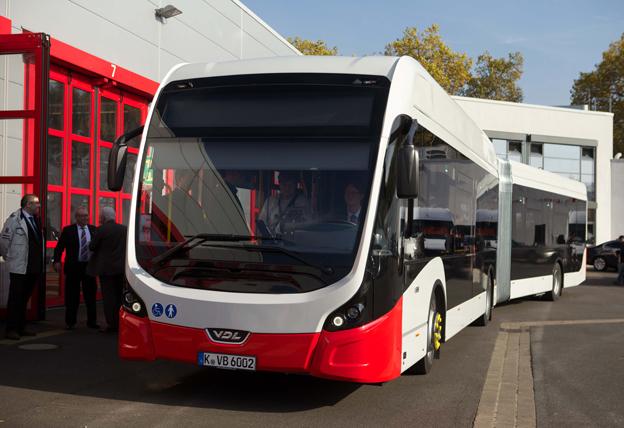 VDL levererade på måndagen sin första fullelektriska ledbuss med BRT-design. Foto: VDL.