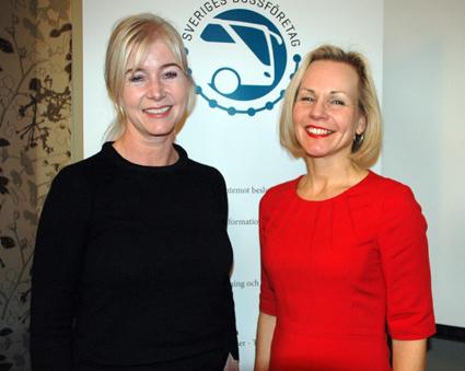 Ulrika Egervall och Anna Grönlund, Sveriges Bussföretag. Foto: Paula Isaksson.