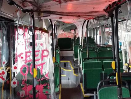 Pass upp för kalla kårar på bussen i Lund!. Foto: Skånetrafiken.