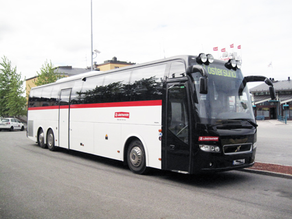 Jämtland toppar listan över störst andel tunga bussar som underkänns vid besiktningen. Bussen på bilden har inget direkt samband med artikelns text. Foto: Ulo Maasing.