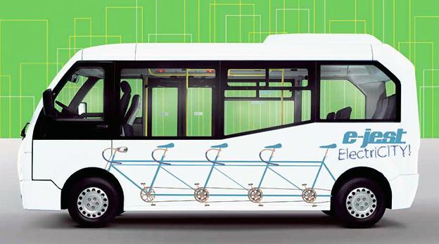 Karsan Jest är en liten elbuss som BK Invest tar in i Sverige.