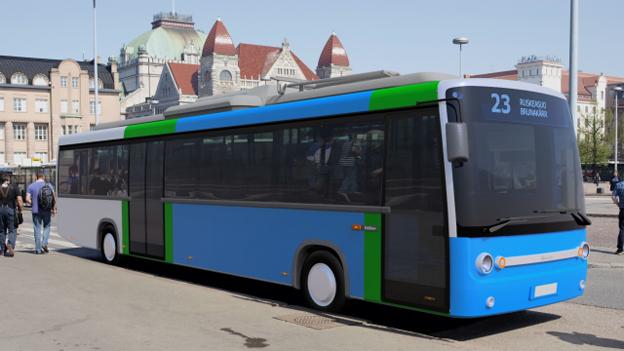 Köpenhamn testar tv snabbladdade bussar från finska Linkker. Illustration: Linkker.