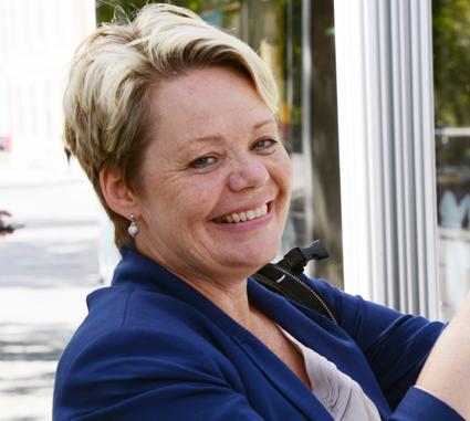 Lotta Finstorp(M) föreslår riksdagen flera lagändringar som berör busstrafiken. Foto: Ulo Maasing.