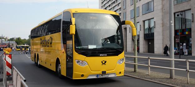 Flygbolaget Lufthansa ska samarbeta med det tyska expressbussföretaget Postbus. Foto: Ulo Maasiong.