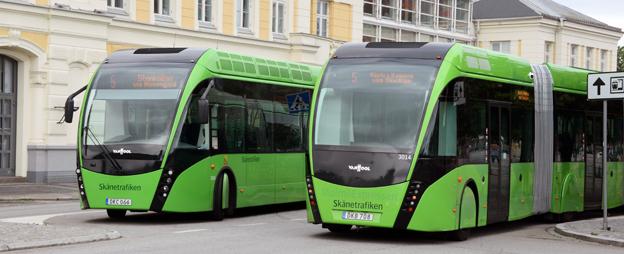 Det har blivit rymligare för barnvagnar och rullstolsburna på MalmöExpressen. Foto: Ulo Maasing.