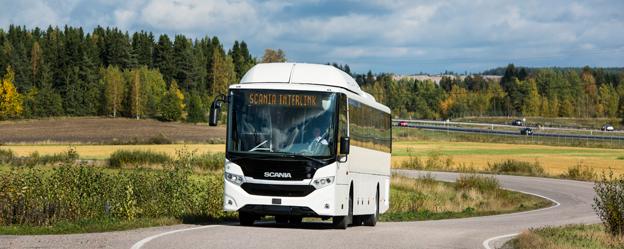 Nya Scania Interlink. Scania har i år ökat sin marknadsandel på den europeiska bussmarknaden. Foto: Scania.