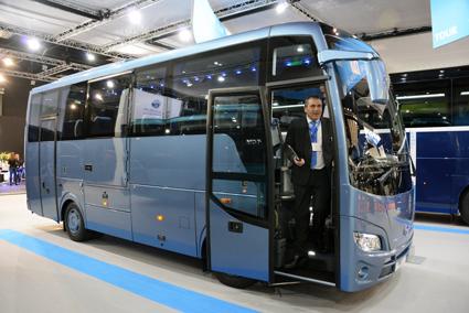 Midibussen MD7  var Temsas andra nyhet på Busworld. Foto: Ulo Maasing.