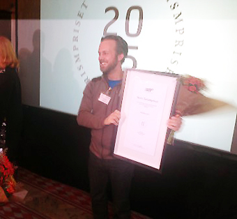 WildSweden fick på tisdagen ta emot Stora Turismpriset. Foto: Tillväxtverket.