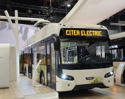 I VDL:s monter fanns också eldrivna stadsbussen Citea Electric. Foto: Ulo Maasing.