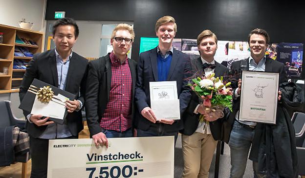 Appen Nxplore blev vinnare  i Electricity Innovation Award.Bakom projektet står Christoffer Karlsson