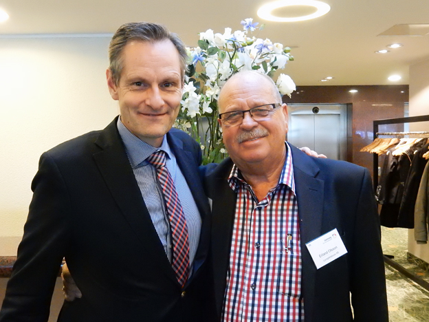 Michael Fogelström, JF Travel tillsammans med Ljungskilebuss´ Erland Olsson. Foto: Ulo MAasing.