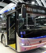 Yutong hade premiär på sin helelektriska stadsbuss E12 på årets Busworld. Foto: Ulo Maasing.