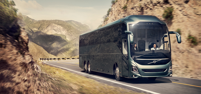 Volvo Bussar har lanserat nya Volvo 9800 i Mexiko. Bild: Volvo Bussar.