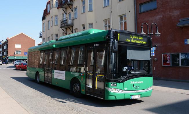Första stadsbussresan nästan gratis för den som laddar ner Skånetrafikens app Stadsbiljetten. Foto: Ulo Maasing.