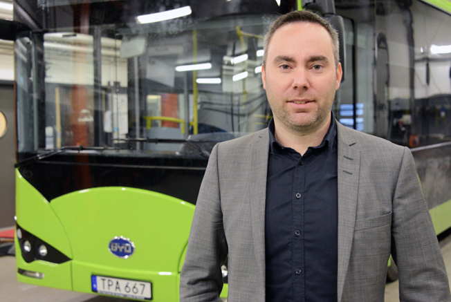 Johnny Struwe, fleet manager, Transdev Sverige. Foto: Ulo MAasing.