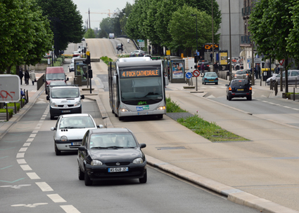 BusWay i Nantes har blivit en stor succé. Foto: Ulo Maasing.