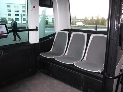 EZ10 har plats för tolv passagerare. Foto: RTama/Wikimedia Commons.