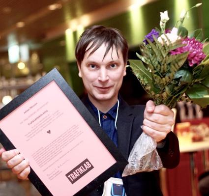 Johan Nilsson, Trafiklabhjälte 2015. Foto: Samtrfiken.