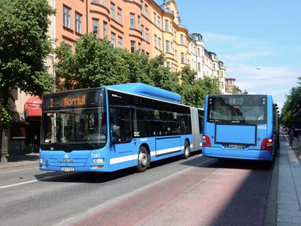 Keolis har nominerats till IT-pris för infosystemet på Stockholms stombussar. Foto: Ulo Maasing.