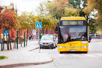 Bussresandet mellan Lund och Kävlinge har ökat kraftigt i år. Foto: Skånetrafiken.