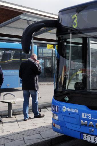 Kungsbacka har haft en ökning av stadsbussresandet med 42 procent sedan i somras. Foto: Ulo Maasing.