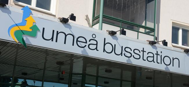 Om drygt ett år kan sista bussen från Umeå busstation till Sundsvall gå. Foto: Ulo MAasing.
