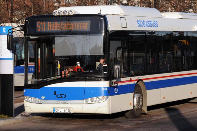 Busstrfiken mellan Västerås och Hallstahammar respektive Västerås och Surahammar har kunnat notera dramatiska resandeökningar i år. Foto: Ulo Maasing.