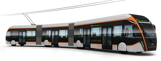 Van Hool ska leverera 20 dubbelledade, 24 meter långa trådbussar till Linz. Bild: Van Hool.
