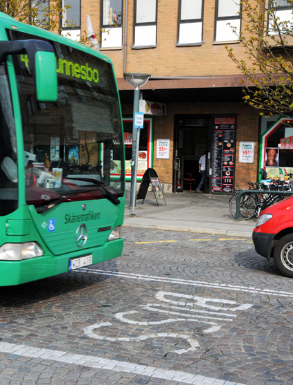 Mer buss på Bangatan i Lund. Foto: Ulo Maasing.
