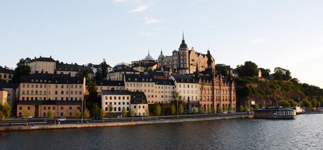 Kväll över Mariaberget i Stockholm. Turismen i huvudstadsområdet fortsätter att öka starkt. Foto: Ulo Maasing.