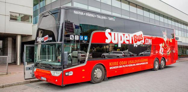 Den 15 december börjar trafiken för Sir Brian Souters senaste etablering öster om Östersjön, Superbus.com. Foto: Superbus.