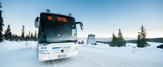 Från Stockholm till Trysil på en enda biljett blir möjligt från och med torsdagen. Swebus inleder nu ett omfattande samarbete med norska Nor-Way Bussekspress. Foto: Nor-Way Bussekspress.