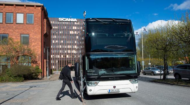 I ordern från Transdev ingår 23 Scania/Van Hool Astromega för Skåneexpressen. Foto: Scania.