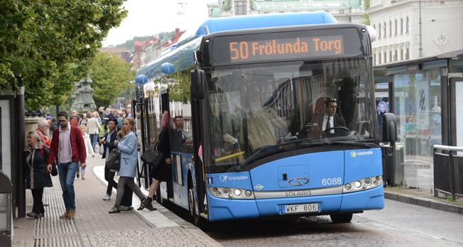 Resandet med Västtrafik ökar. Allra mest ökar bussresandet. Foto: Ulo Maasing.