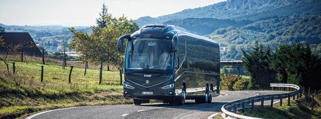 Nyregistreringarna av bussar i Spanien ökar i raketfart. Foto: Irizar.