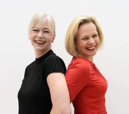 Snart är de här – Anna och Ulrika. Fast i om vänd ordning på bilden: Ulrika Egervall och Anna Grönlund från Sveriges Bussföretag. Foto: Ulo Maasing.