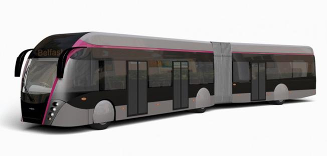 Belfast väljer Van Hool ExquiCity hybridbuss till sin nya BRT-linje. Bild: Van Hool.