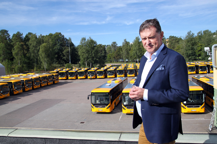 """I helgen sattes massor av nya, toalettlösa bussar in i Värmand. """"Kollektivtrafiken bedriver inte någon sjukvård"""", säger Värmlandstrafiks vd Lars Bull. Foto: Värmlandstrafik."""