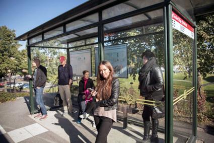 Nobina i Södertälje har nominerats till ett demokratipris för sitt sätt att arbeta med stenkastning och hot mot bussförarna. Foto: Nobina.