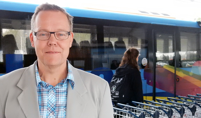 Fredrik Forsell, kollektivtrafikchef i Umeå. Foto: Ulo MAasing.