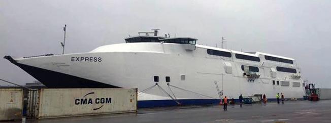 Gotlandsbåtens fartyg HSC Express har nu kommit till Sverige. Bild: Gotlandsbåten.
