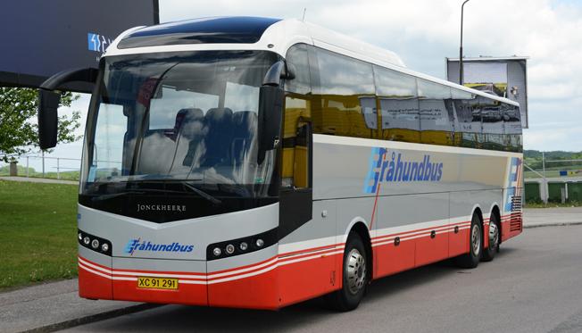 Danska Gråhundbus är ett av de bussföretag som kör linjetrafik över Öresundsbron och som berörs av den nya lagen om ID-kontroll.