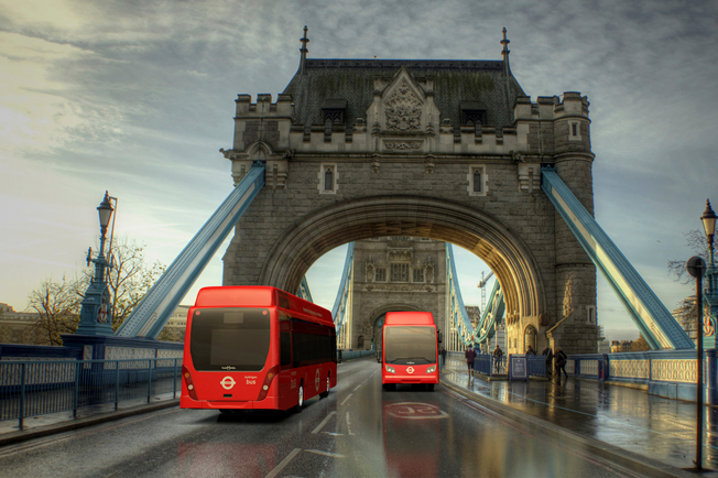 Van Hool levererar bränslecellshybrider till London. Bild: Van Hool.