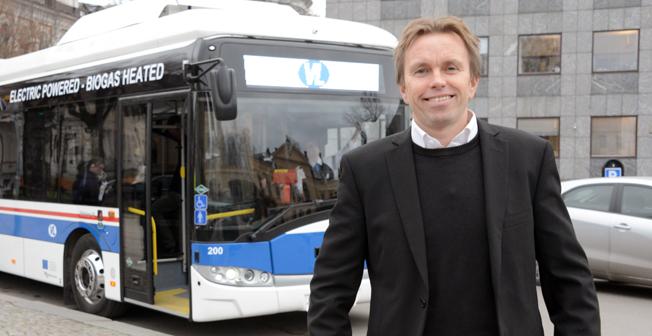 Peter Liss, vd för Västerås Lokaltrafik, stolt prismottagare. Foto: Ulo Maasing.
