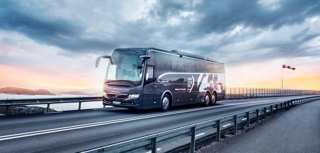 Volvo domoinerade nyregistreringarna av tunga bussar under november. Foto: Volvo.