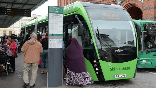 Antalet resor med stadsbussarna i Malmö var rekordstort under 2015. Foto: Ulo Maasing.