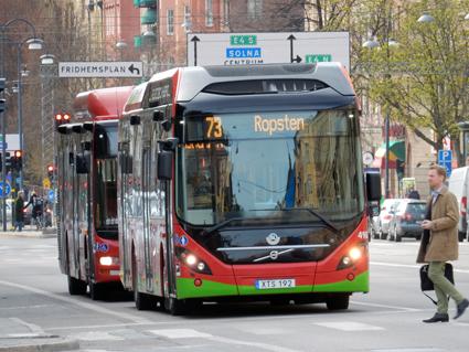 Stockholms län är det enda länet där kollektivtrafiken har en marknadsandel på drygt 50 procent. Foto: Ulo Maasing.