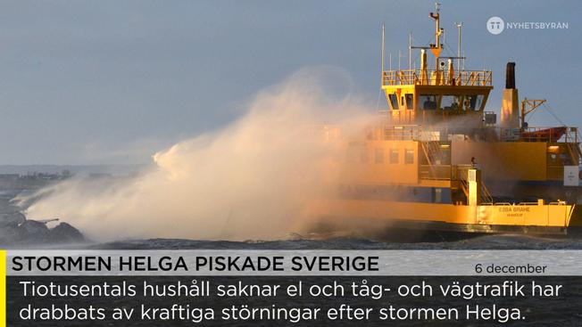 Så kan det se ut på TV-skärmarna i en rad bussar och tåg i Sverige – textade nyheter från TT Nyhetsbyrån. Foto: J Nilsson/TT Nyhetsbyrån.
