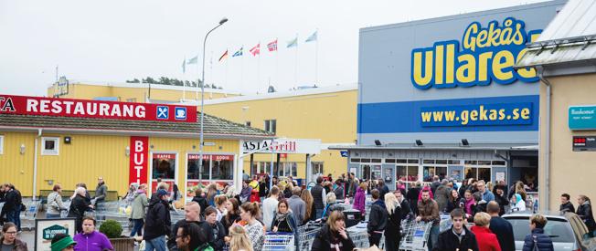 80 gratisbussar ska köra shoppinglystna till Ullared den 6 februari. Foto:Gekås.