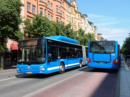 Fyllig trafikinformation i bussarna har gjort resenärer med Stockholms stombusslinjer nöjdare. Foto: Ulo Maasing.